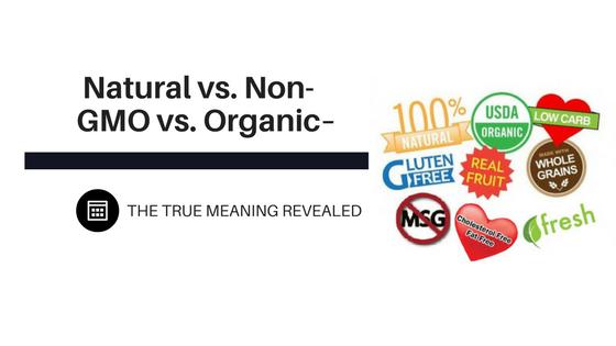 Natural vs. Non-GMO vs. Organic – The True Meaning Revealed
